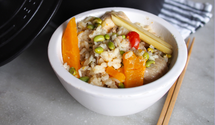 Thai Fusion Baked Risotto with Coconut Milk and Butternut Squash