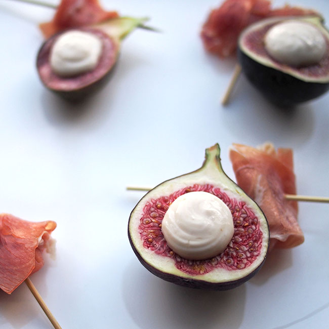Figs, Creme Fraiche and Prosciutto | the Worktop