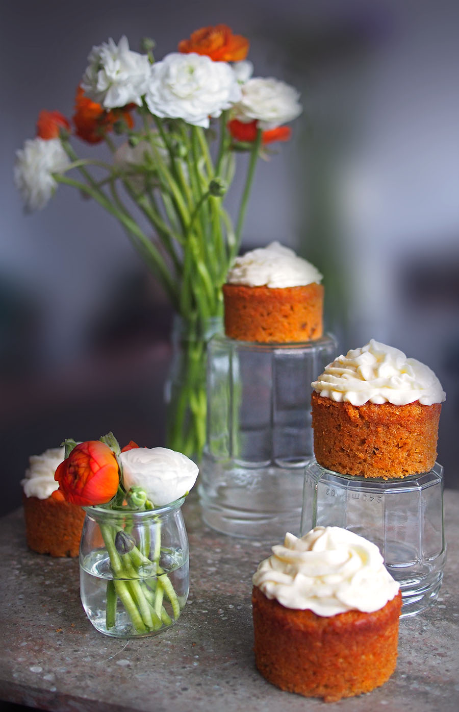 Individual Simple Carrot Cake Cupcakes | The Worktop