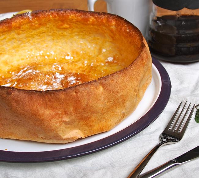 German Pancakes With Sugar German pancake with lemon and