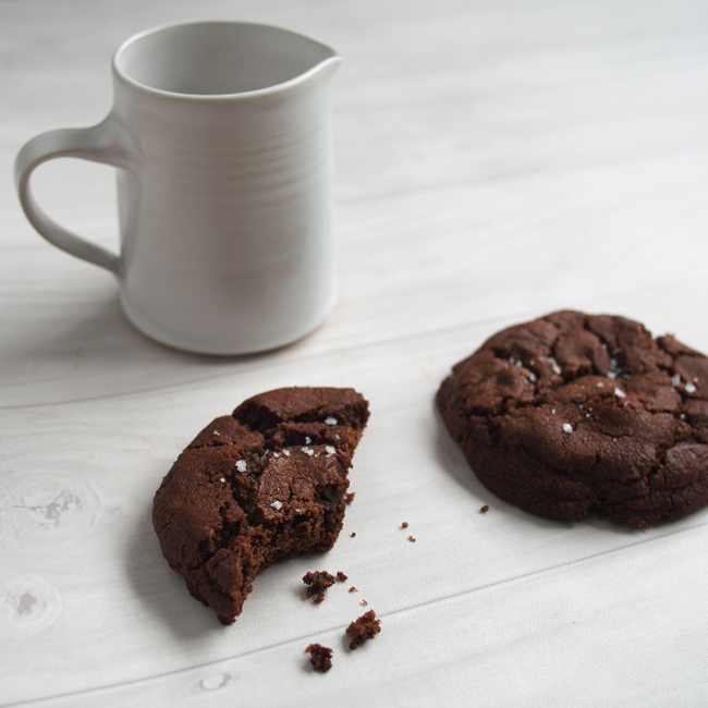 Double Chocolate Cookie with Sea Salt | the Worktop