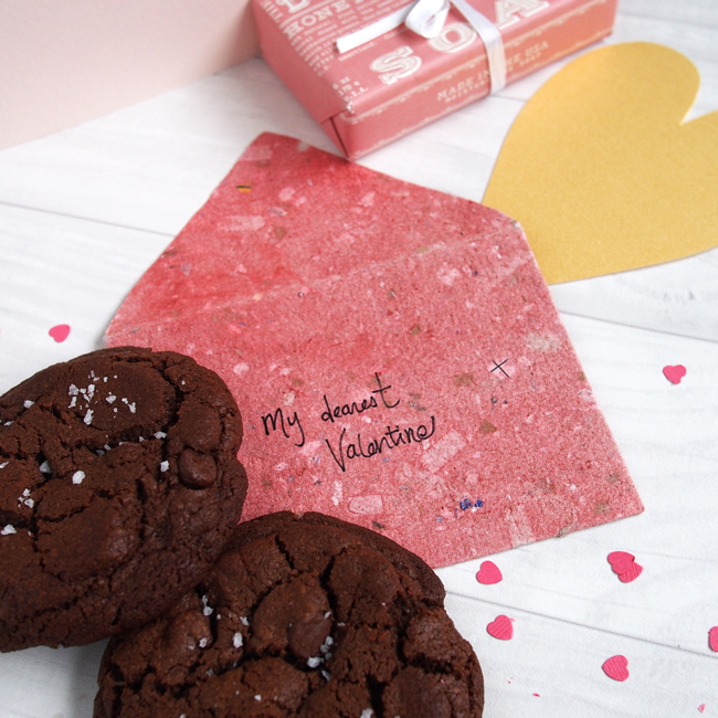 Double Chocolate Cookie with Sea Salt for Valentines | the Worktop
