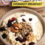 Creamy Bircher Muesli Recipe - bowl with nuts and yogurt   The Worktop