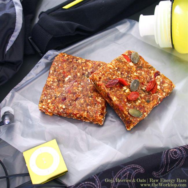 Raw Vegan Energy Bars with Goji Berries and Oats   The Worktop