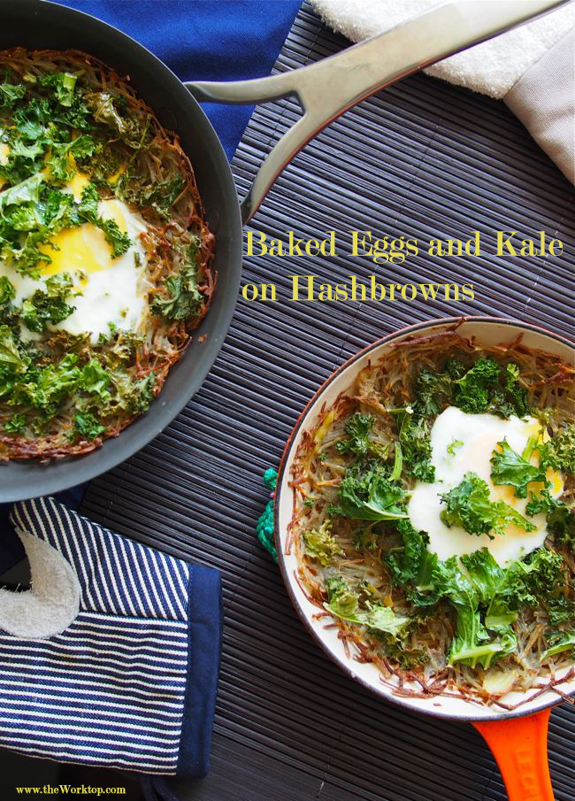 Baked Eggs and Kale | the Worktop