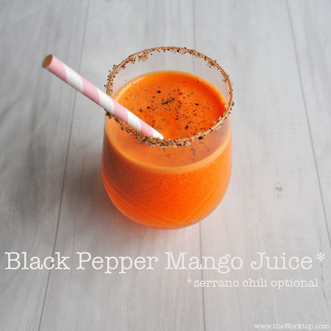 Black Pepper Mango Juice | theWorktop.com