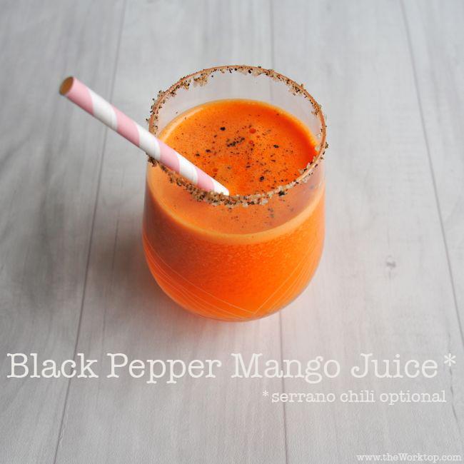 Black Pepper Mango Juice | theWorktop.com