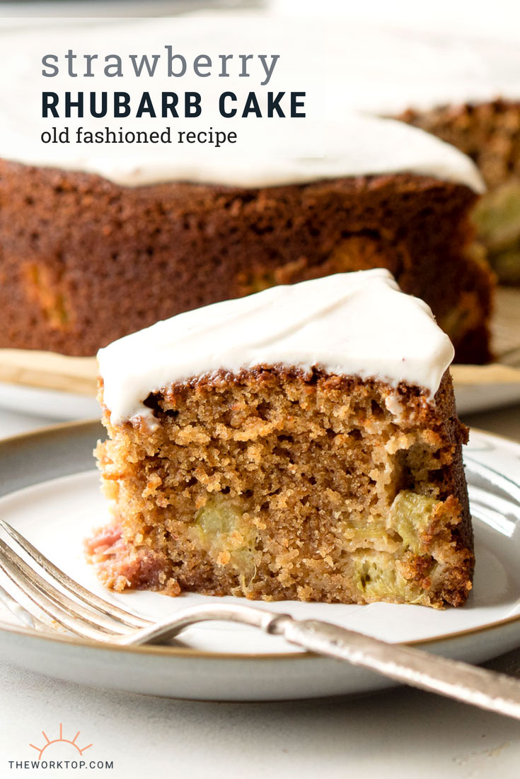 Old Fashioned Rhubarb Cake | The Worktop