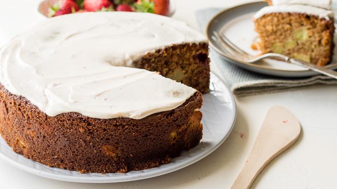 Strawberry Rhubarb Coffee Cake Recipe | The Worktop