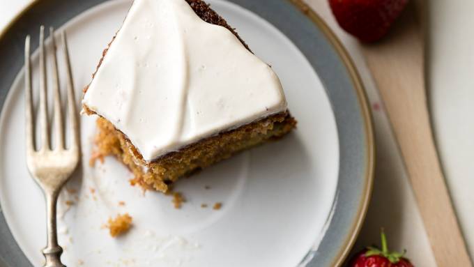 Strawberry Rhubarb Old Fashioned Cake | The Worktop