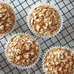 Zucchini Oat Muffins | TheWorktop.com