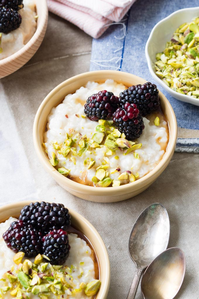 Almond Milk Rice Pudding (Vegan, GF) | The Worktop