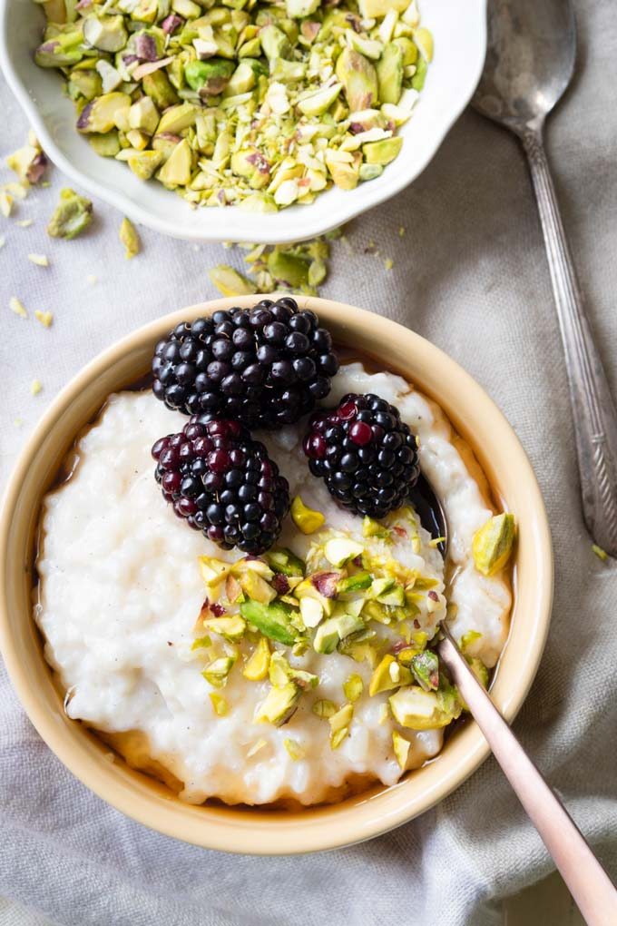 Almond Milk Rice Pudding (Vegan, GF, DF) | The Worktop