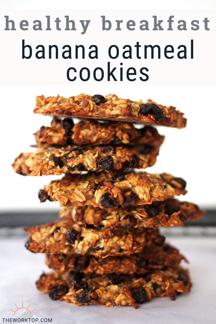 Healthy Breakfast Banana Oatmeal Cookies | The Worktop