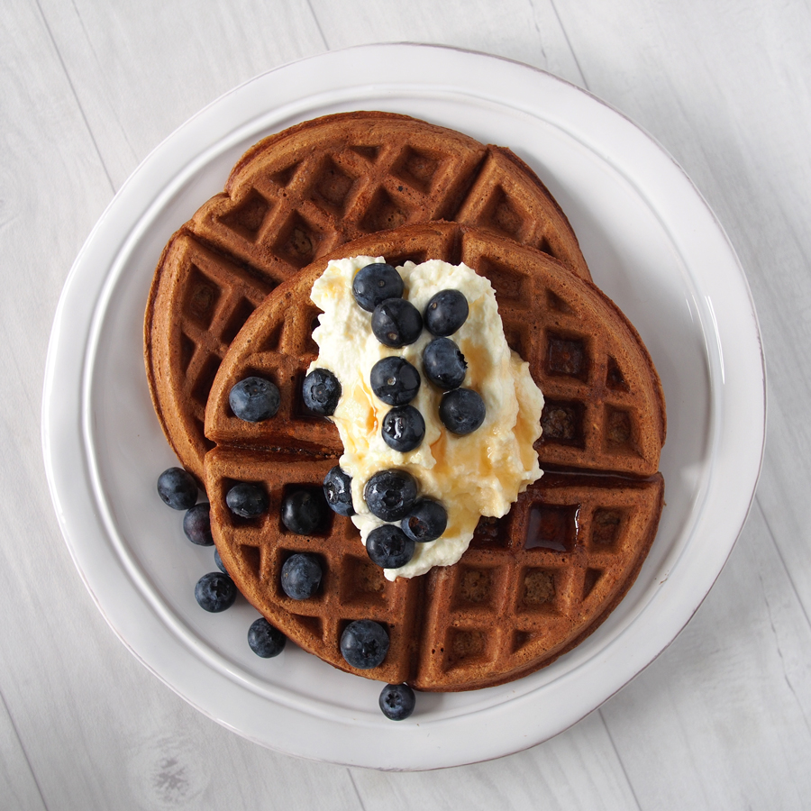Honey Oat Waffles