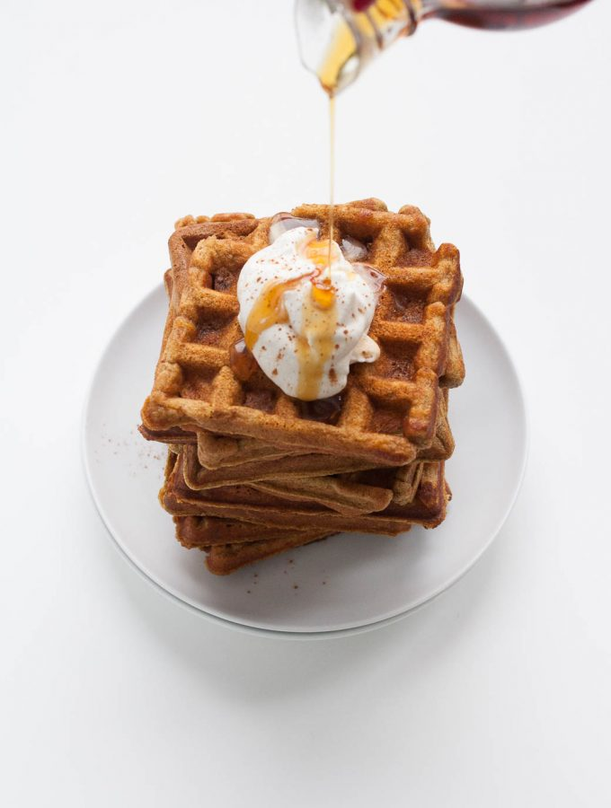 Whole Wheat Pumpkin Waffles