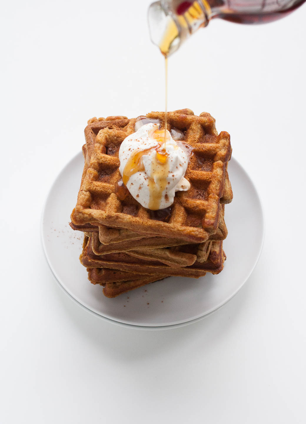 Whole Wheat Pumpkin Waffles by Sarah at Real Food and Ice Cream