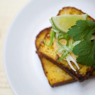 Caravan King's Cross - Cornbread with Chipotle Butter and Spring Onions