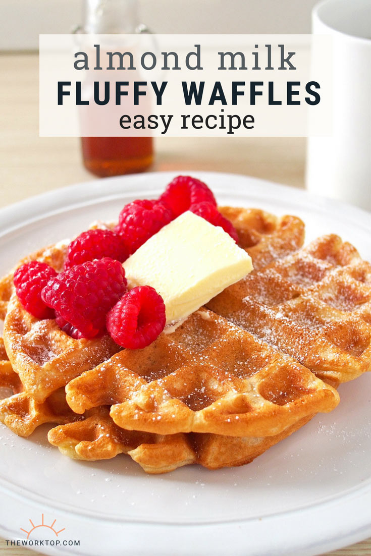 Almond Milk Waffles - Easy Recipe