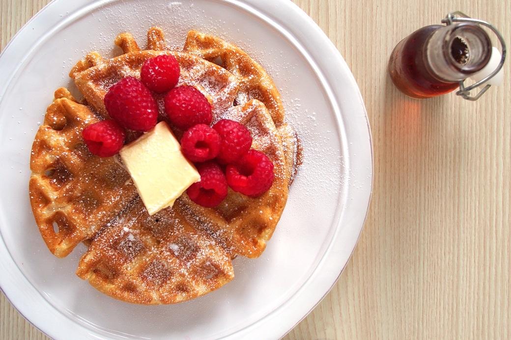 Brown Butter Almond Milk Waffles | The Worktop