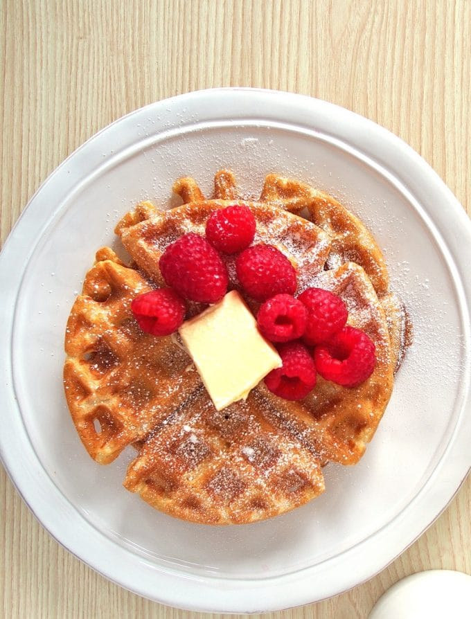 Brown Butter Almond Milk Waffles