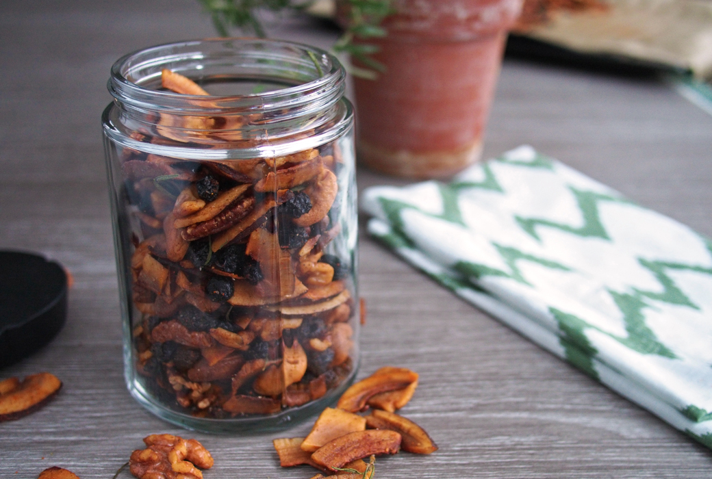 Rosemary and Cayenne Coconut Chips (Toasted Trail Mix)