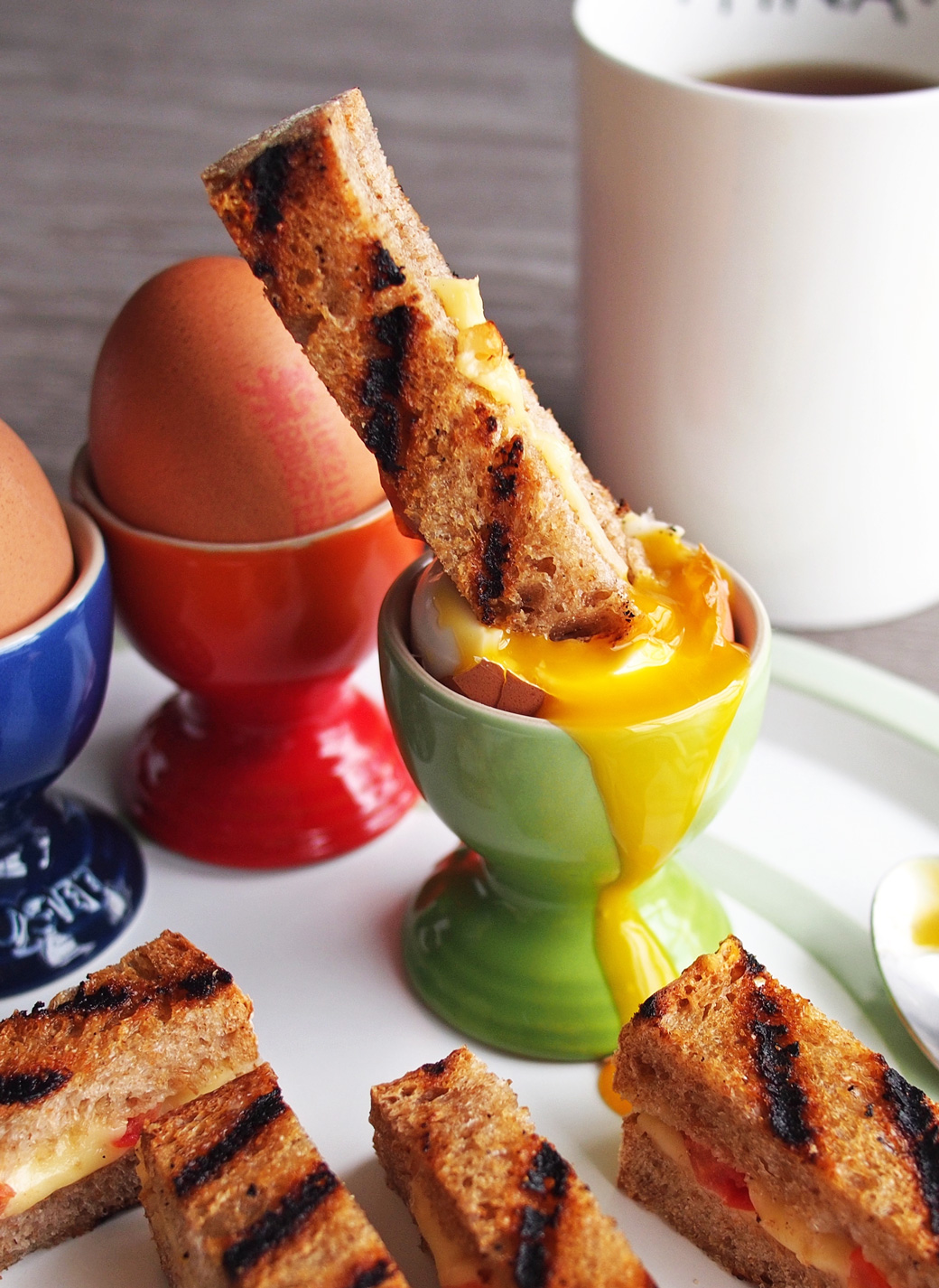 Dippy Eggs and Grilled Cheese Soldiers For Family Easter Brunch