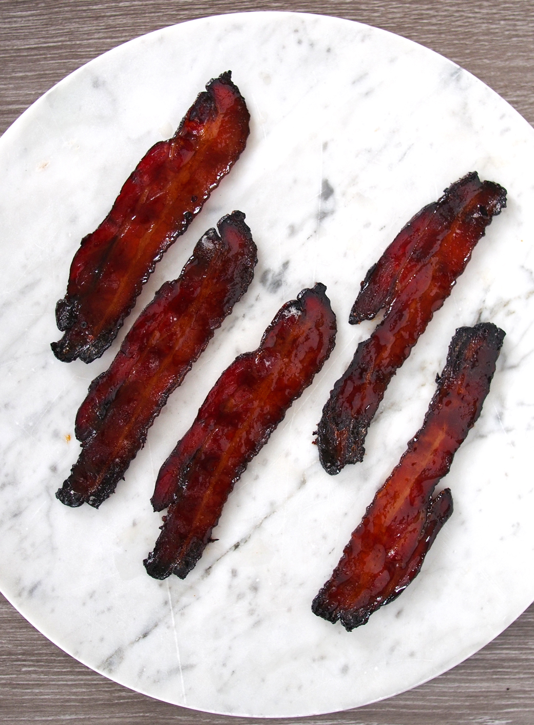 Maple and Coffee Glazed Bacon