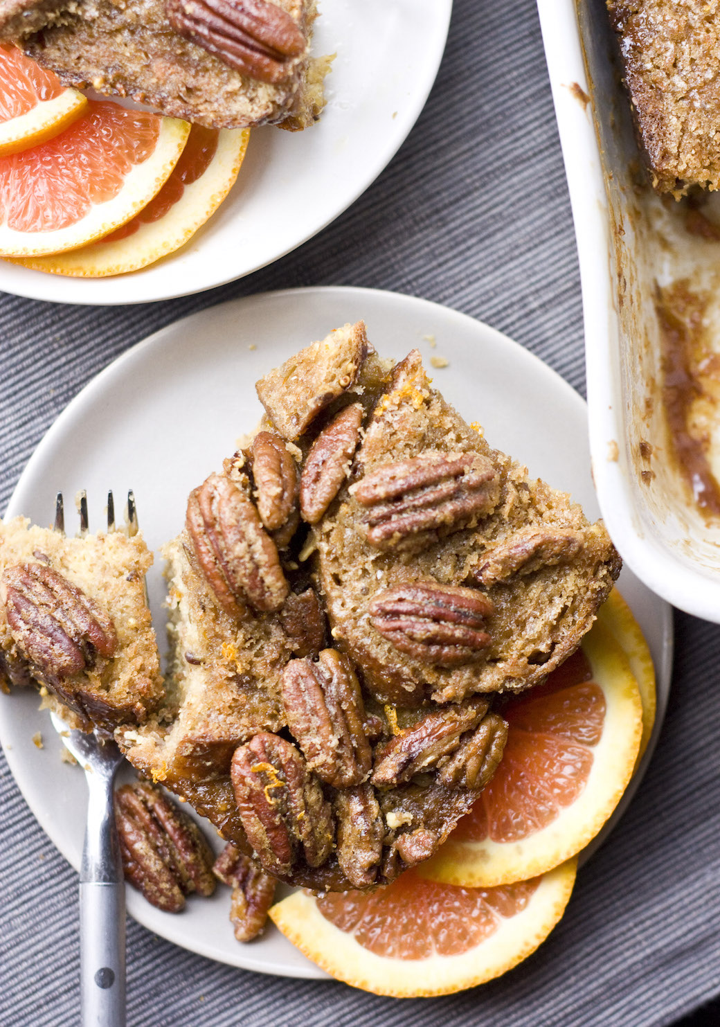 Orange Pecan Baked French Toast
