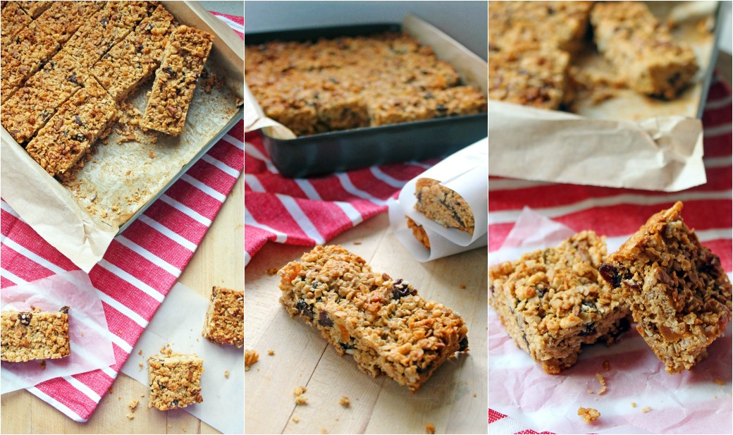 Peanut Butter Granola Bars with Honey by Ever So Sweet