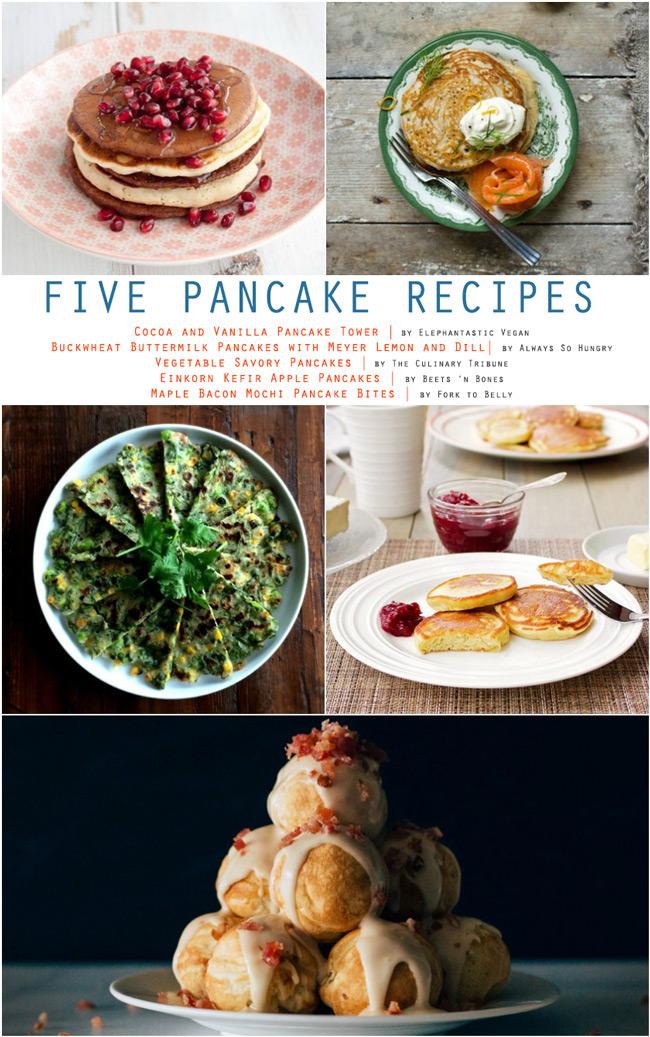 Five Pancake Recipes