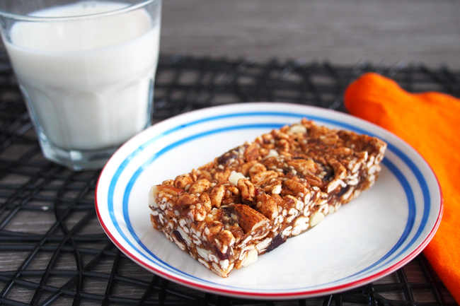 Healthy no bake puffed cereal bars vegan gf df the worktop healthy puffed cereal bars the worktop ccuart Choice Image