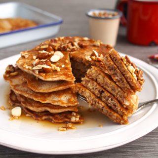 Nutty Nut Pancake Stack