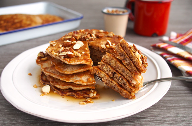 Nutty Nut Pancake Stack | The Worktop