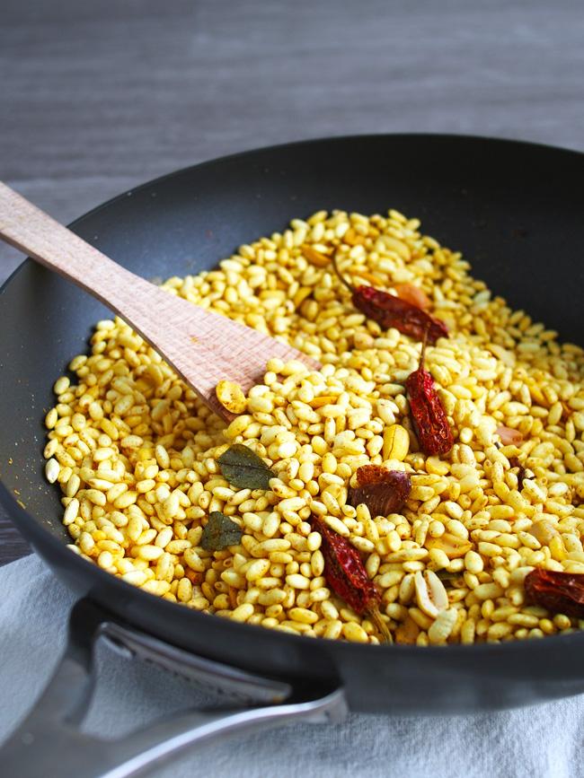 Murmura Spicy Puffed Rice (Borugulu) (Vegan, GF)
