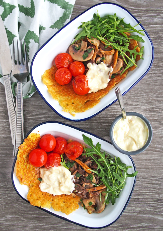 Farinata Recipe with Wild Mushrooms and Garlic Aioli (Vegan, GF, Dairy-free) | The Worktop