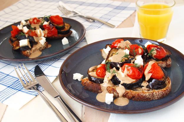 Ottolenghi Inspired Black Garlic And Aubergine Toast