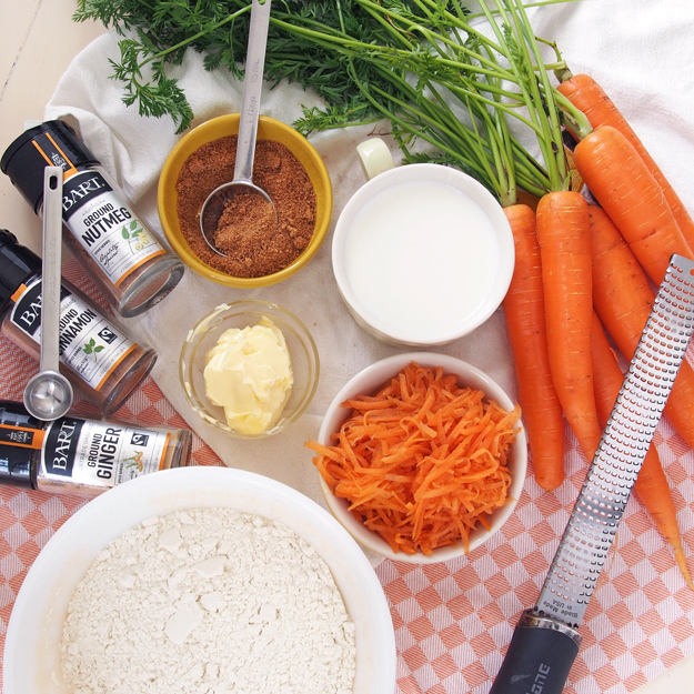 Carrot Cake Cinnamon Rolls Ingredients