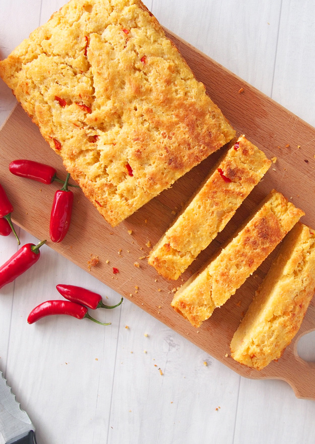 Cheddar Cornbread with Chile