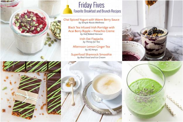 Friday Fives: Tea-Inspired Breakfast Recipes (Week 10)
