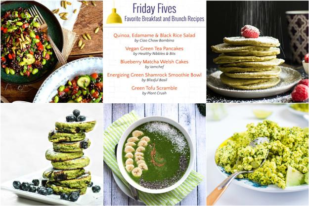 Friday Fives: Green Breakfast Recipes (Week 10)