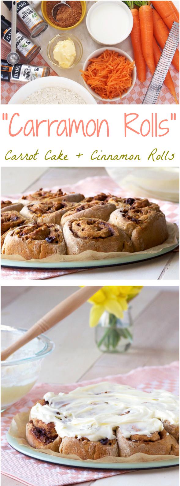 """Carramon Rolls"" = carrot cake + cinnamon rolls"
