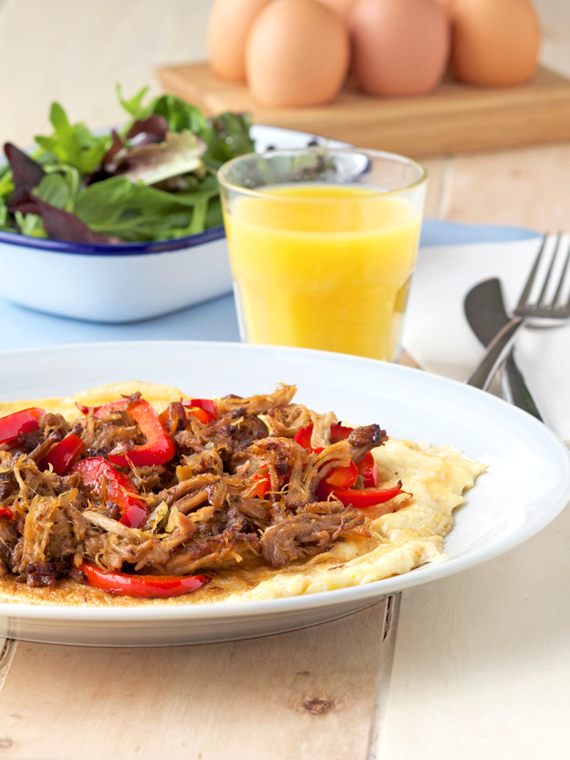 Pulled Pork Omelette For Those Hungry Mornings (GF)
