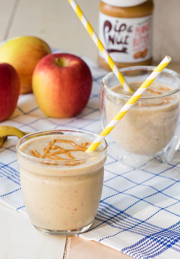 Apple Peanut Butter Smoothie (Vegan, GF, Dairy-free)