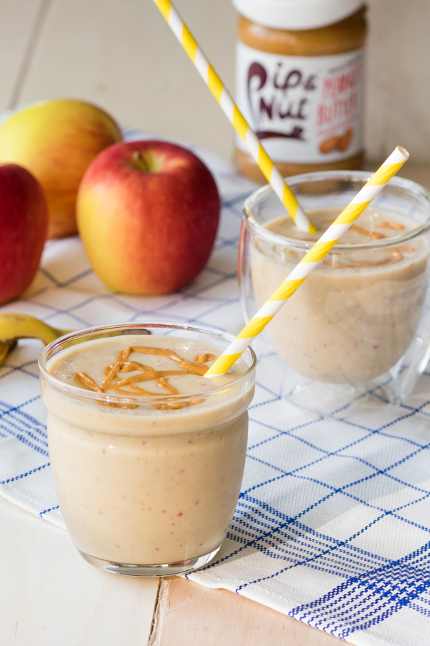 Apple Peanut Butter Smoothie (Vegan, GF, Dairy-free)