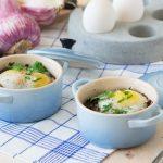 Baked Duck Eggs en Cocotte