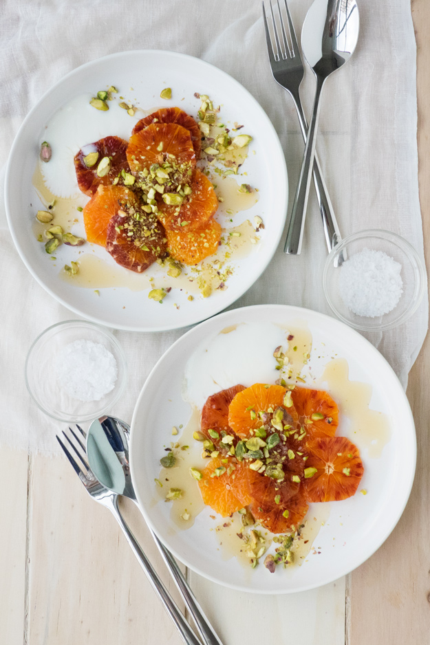 Blood Orange and Pistachio on Yogurt (GF)