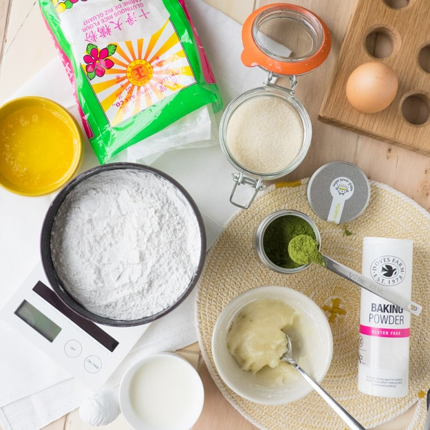Matcha Mochi Donuts Ingredients (GF) | The Worktop