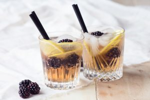 Blackberry Ginger Crush Mocktail