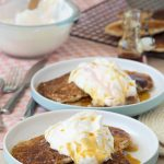 Cornmeal and Spelt Pancakes with Rhubarb Whipped Cream | The Worktop